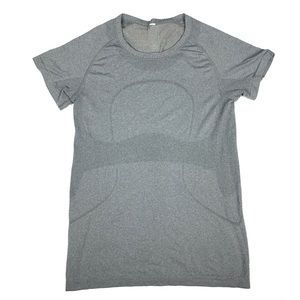 Lululemon Run Swiftly Gray Womens Shirt Size 10